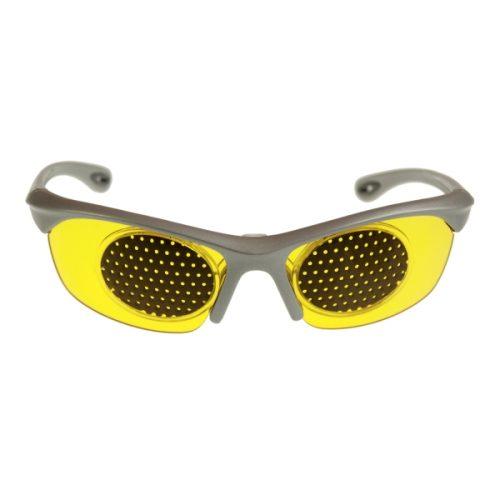 Gafas con filtro luz azul y rejilla reticulada para entrenamiento de la vision